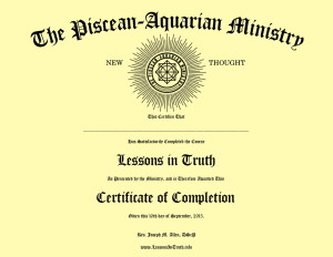 Lessons in Truth Certificate of Completion